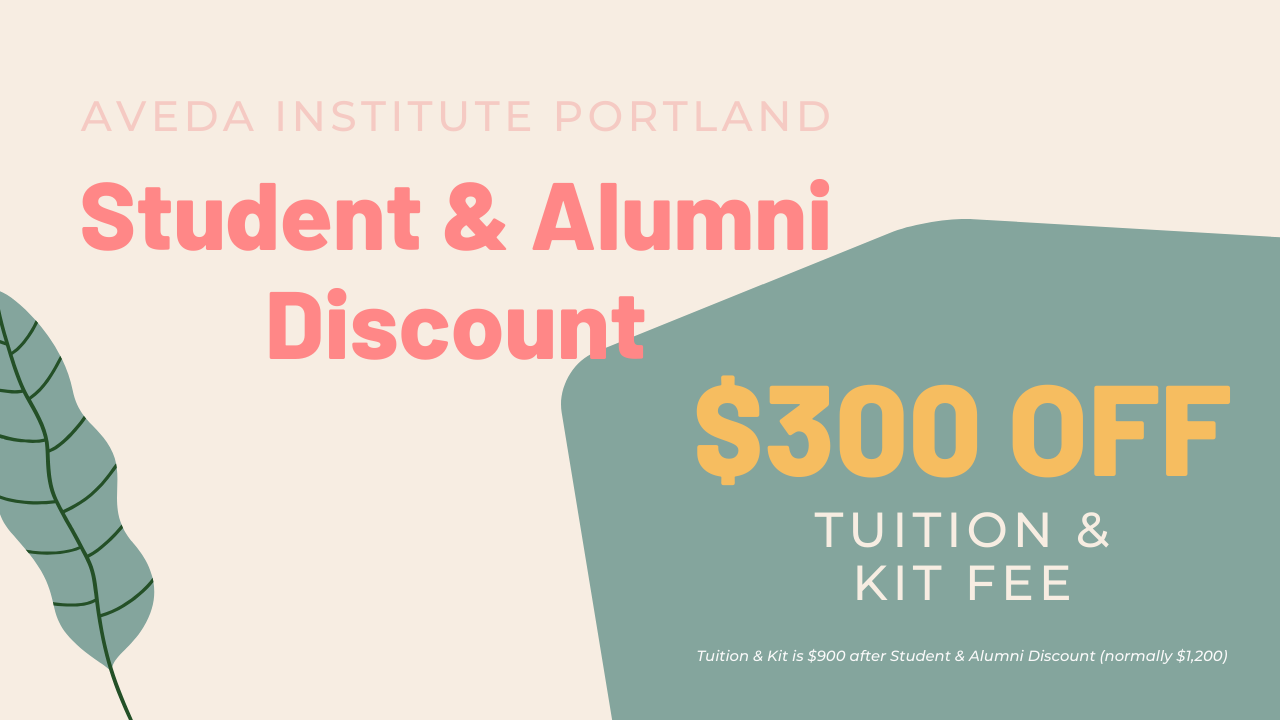Aveda institute portland offers a student and alumni discount for the Lash Extension Workshop