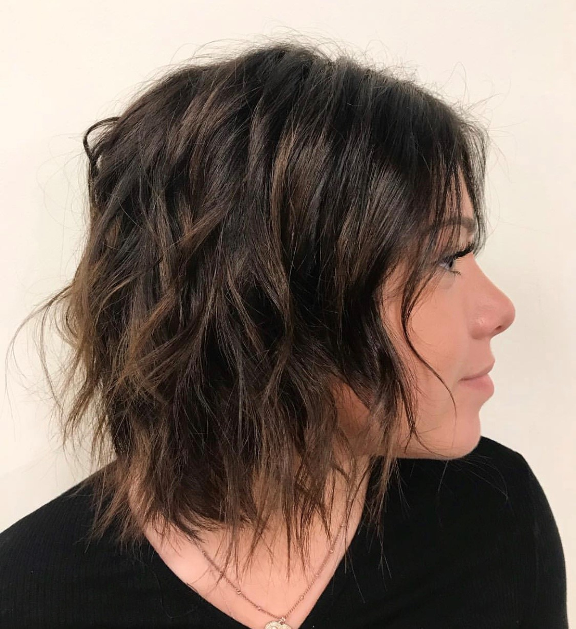 haircut, bob, student work, aveda institute, texture
