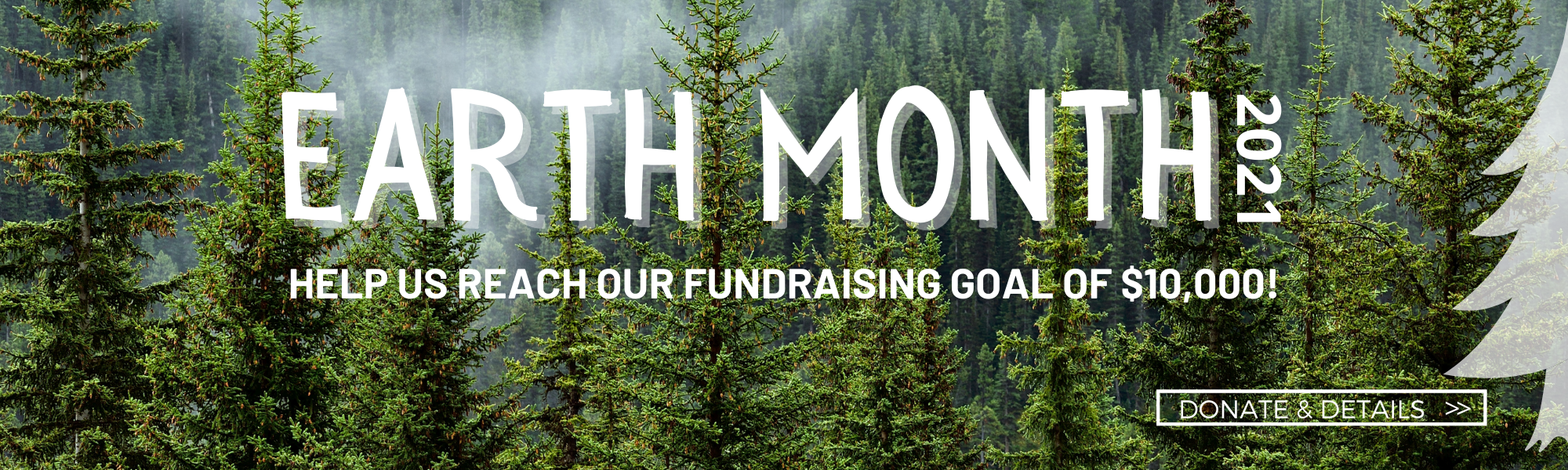 Earth month 2021 help us reach our fundraising goal of $10,000