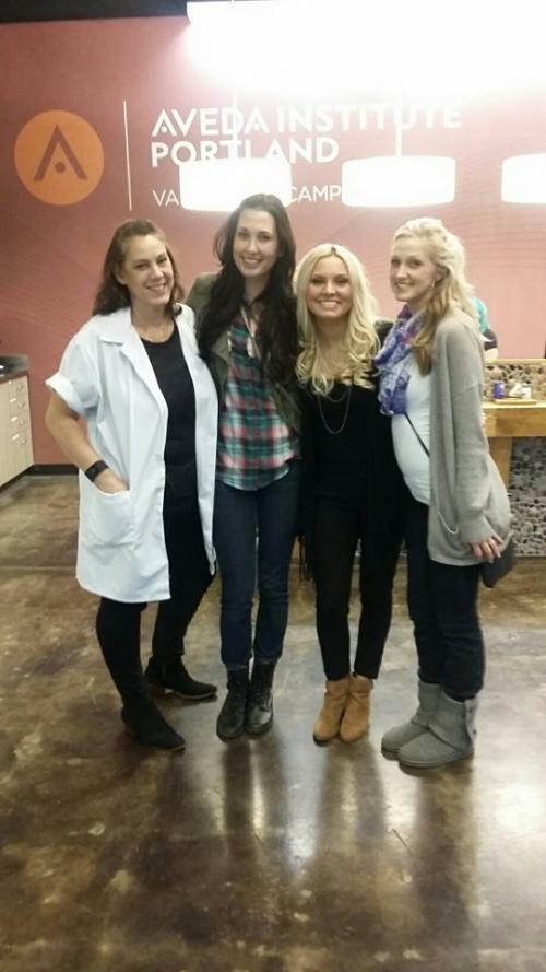 Aveda Institute Portland, Instructor Noelle with Students